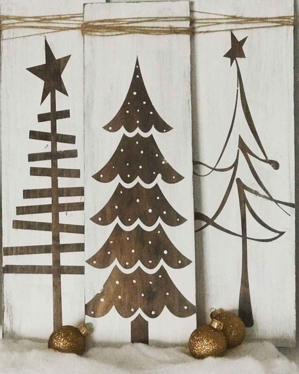 Sign Freestanding with Glitter Accents Personalised Wooden Christmas at the..