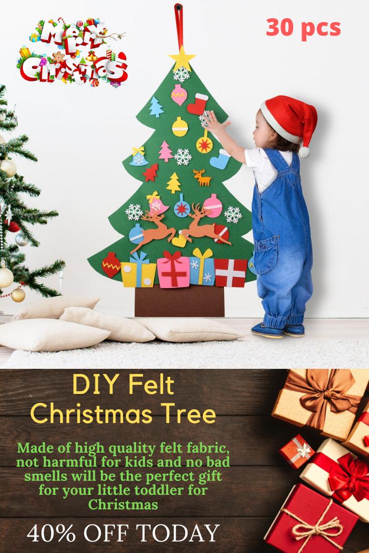 Diy Felt Christmas Tree Best Gift For Children Diy Felt Christmas Tree Felt Christmas Tree Fabric Christmas Trees