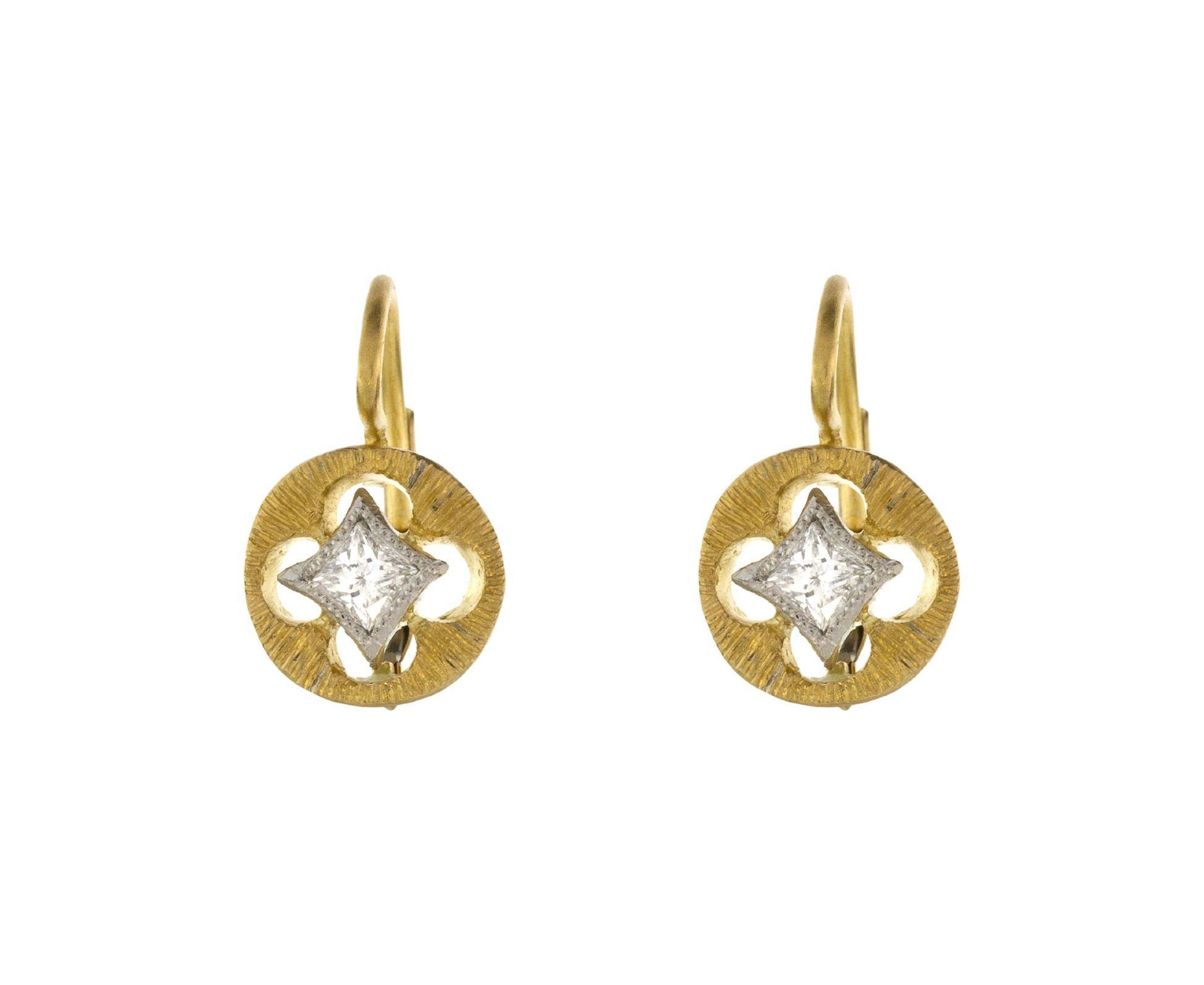 Cathy Waterman Floating Diamond Earrings In Designers At Twistonline
