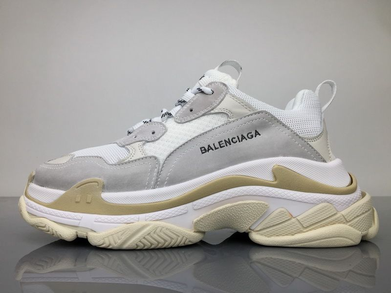 a0fe0a34489c Balenciaga Triple S 490671W06F19000 White Grey Shoes 1
