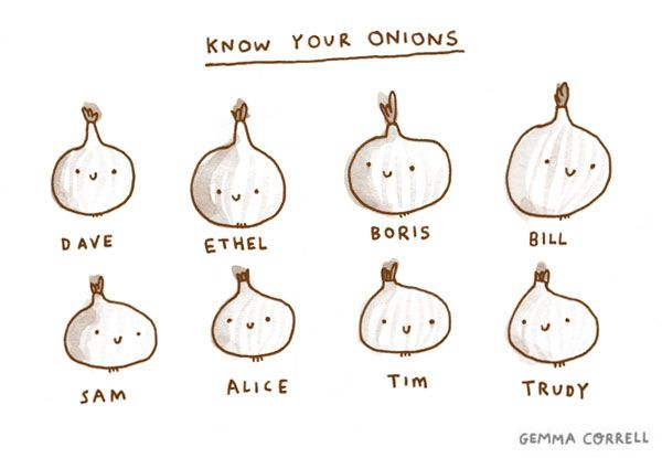 know your onions by gemma correll, via Flickr