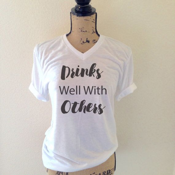 Drinks Well With Others Tank Top in Heather  by WildandFreeCoUSA
