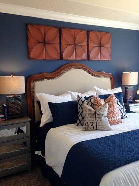 45 Blue And Orange Bedroom Ideas Easy Home Concepts Blue Bedroom Decor Bedroom Orange Blue Master Bedroom
