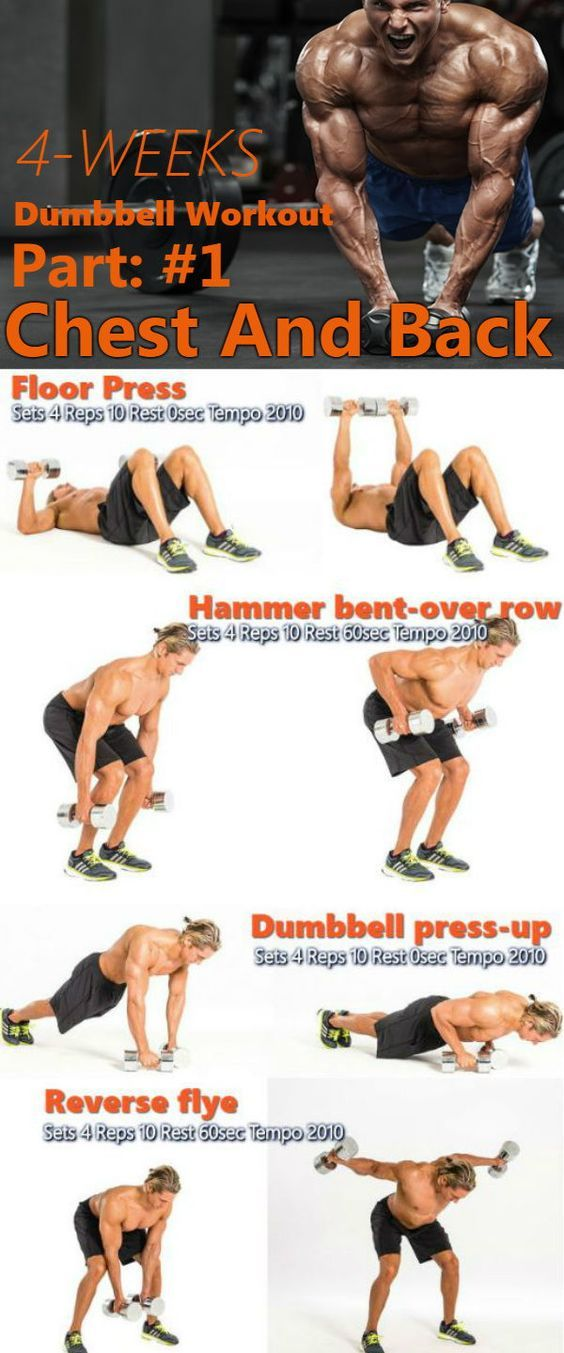 The 4-Week Dumbbell Workout Plan Part 1: Chest And Back - GymGuider.com