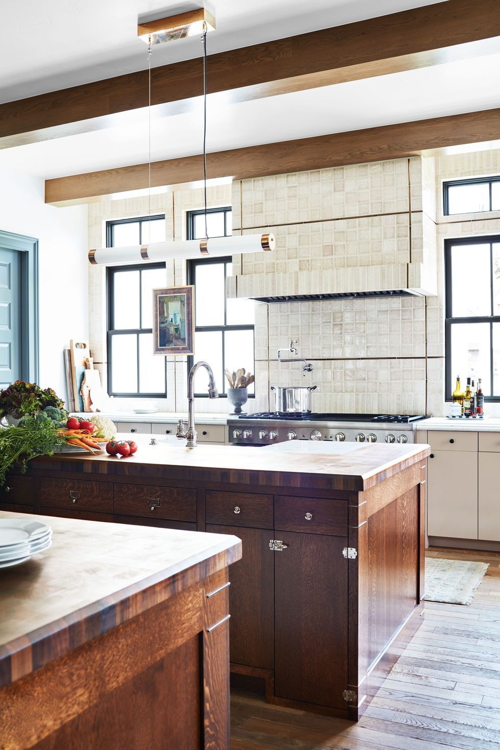 the pink and green color scheme in this kitchen was inspired by an instagram kitchen design on kitchen interior green id=35460