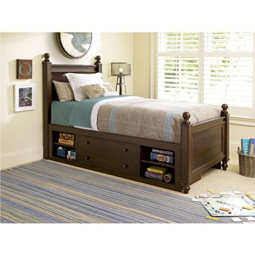Hunter Under Bed Storage Unit In Molasses With Images Full Bed