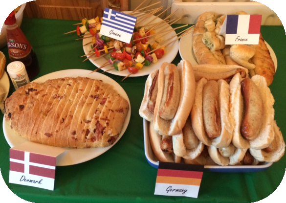 Eurovision Song Contest Party #eurovision Countries, food