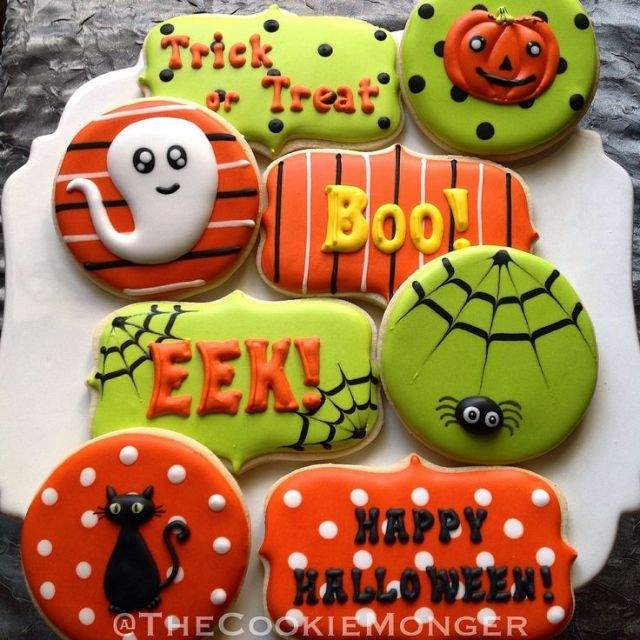 Halloween Cookies The orders of Cookie Monger Stacey: send an e-mail to thecookiemonger @ o .... #halloweencookiesdecorated