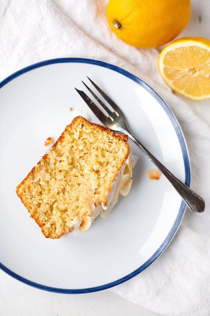 Zitronen Kokos Kuchen Mit Zitronigem Creme Fraiche Topping Rezept