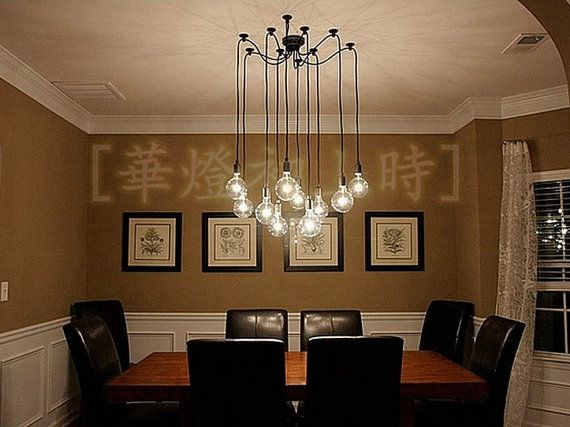 Industrial Lamps Modern During Chandelier Light Pendant Chandeliers Led Ceiling Lights Dining Room Lighting Rooms Edison