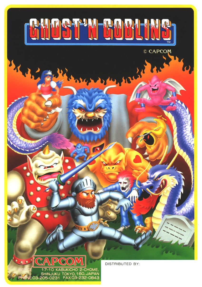 Ghosts 'n Goblins | Video Games | History of video games, Classic