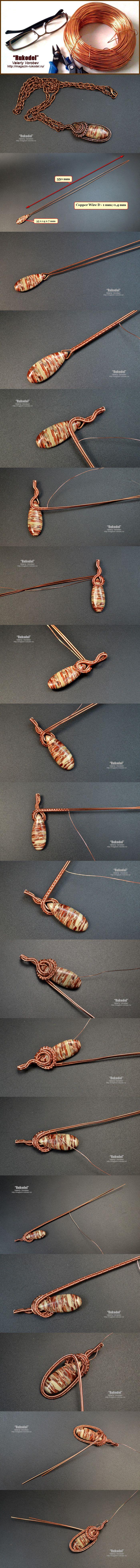 Кулон wire wrap. Урок для начинающих мастеров рукоделия ...