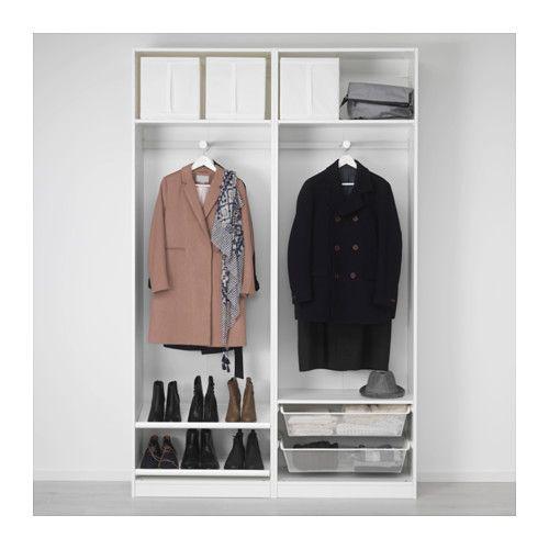 pax kleiderschrank wei hasvik wei siggelkowos pinterest. Black Bedroom Furniture Sets. Home Design Ideas
