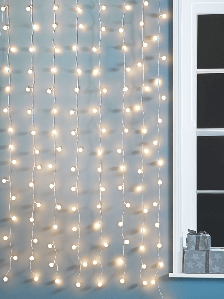 New Light Up Snowball Curtain Curtain Lights Curtains Curtains For Sale
