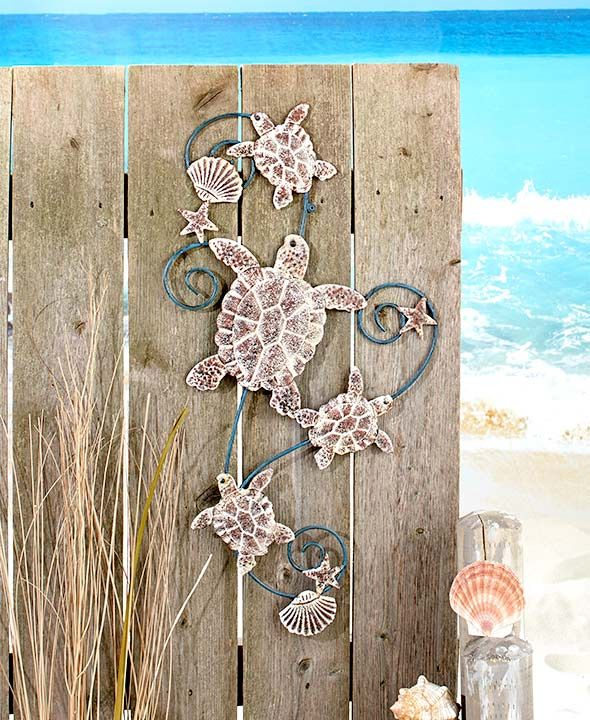 Metal Seaside Wall Sculptures Life S A Beach Beach Wall Art
