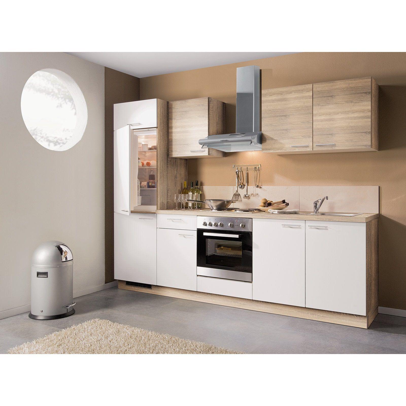 Küchenblock WIN Bergeicheweiß links mit EGeräten