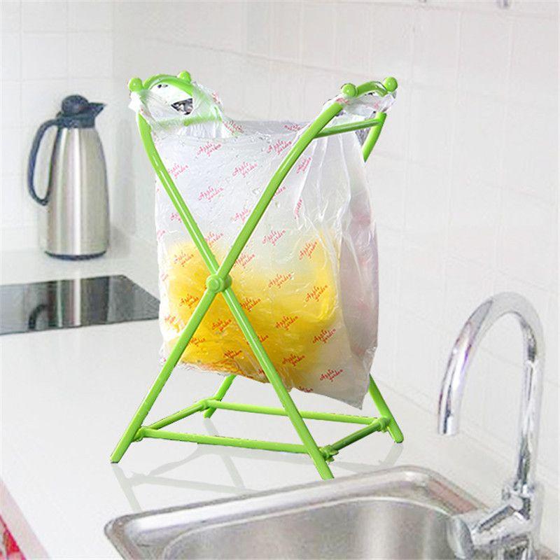 Home Fashion Household Trash Rack Kitchen Storage Rack Trash Garbage Bag  Easy Convenience Holder For PVC