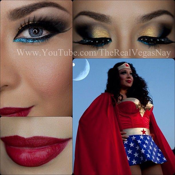 Pin By Blue On Nails Makeup Wonder Woman Makeup Womens Makeup Halloween Women