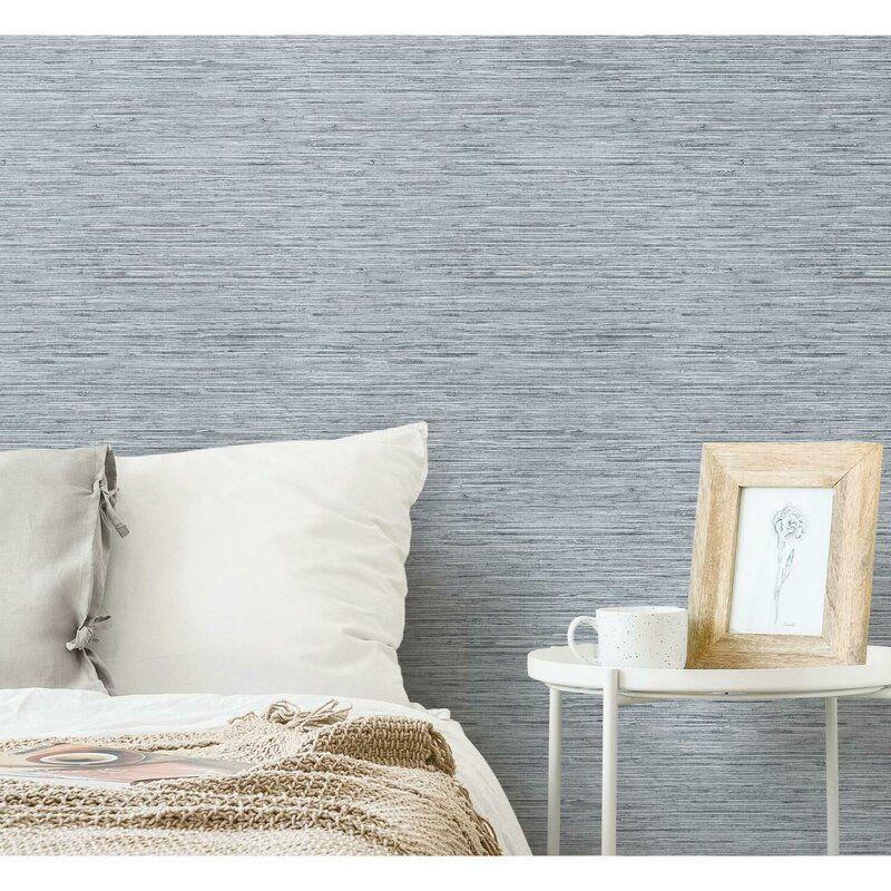 Eske Smooth 16 5 L X 20 5 W Peel And Stick Wallpaper Roll Grasscloth Wallpaper Grasscloth Peel And Stick Wallpaper