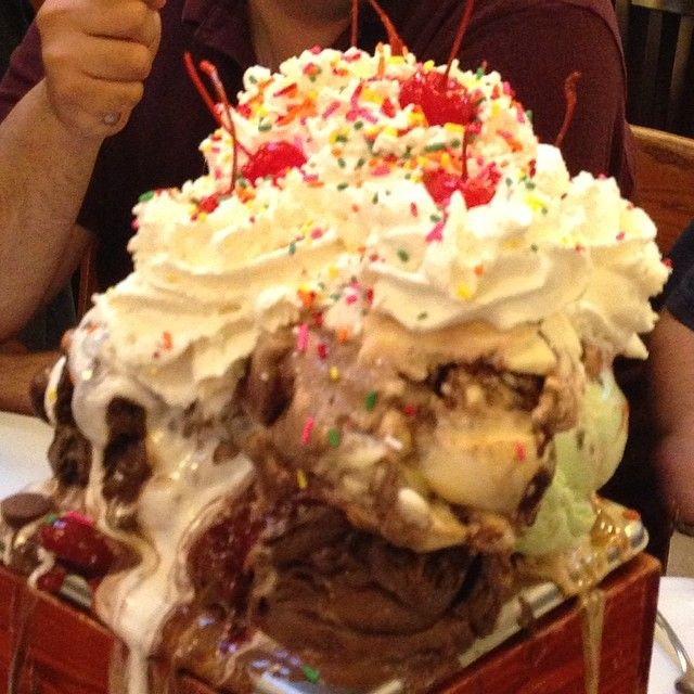 Man Vs Food Kitchen Sink Challenge Check out san francisco creamery in walnut creek ca as seen on man man v food kitchen sink workwithnaturefo
