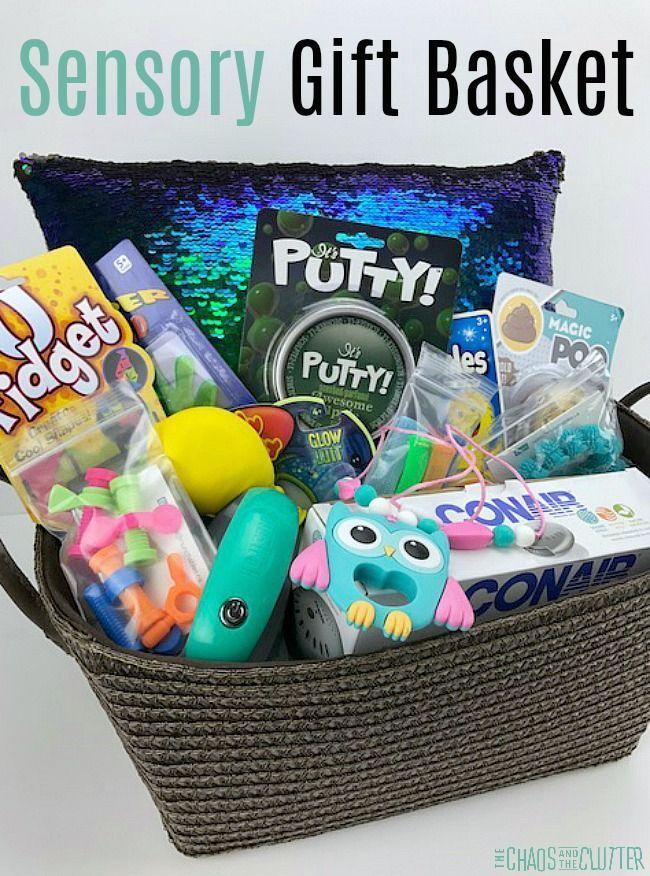 Diy sensory gift basket gift sensory play and parents diy sensory gift basket negle Gallery