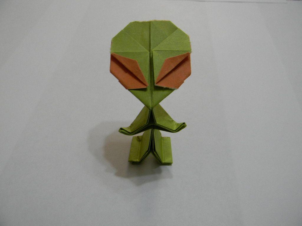 Origami alien by riki saito origami pinterest origami and aliens origami alien by riki saito jeuxipadfo Images