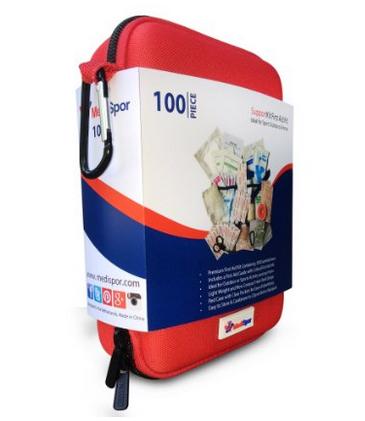 First Aid Kit (100 Pcs), MediSpor Red Cross First-Aid Kits