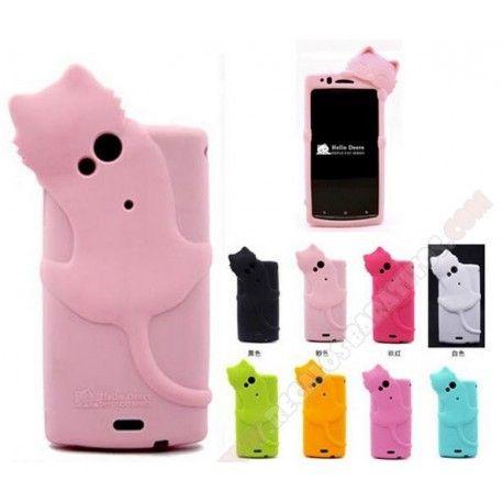 c4138323d71 Carcasa Gatito 3D en silicona para Sony Xperia ARC S / X12 Fundas Para  Teléfono,
