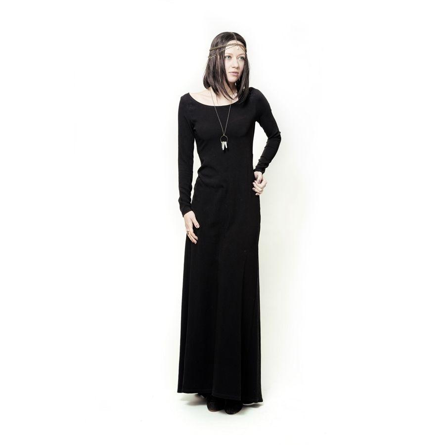 Robe noire longue et manche longue good style dresses pinterest