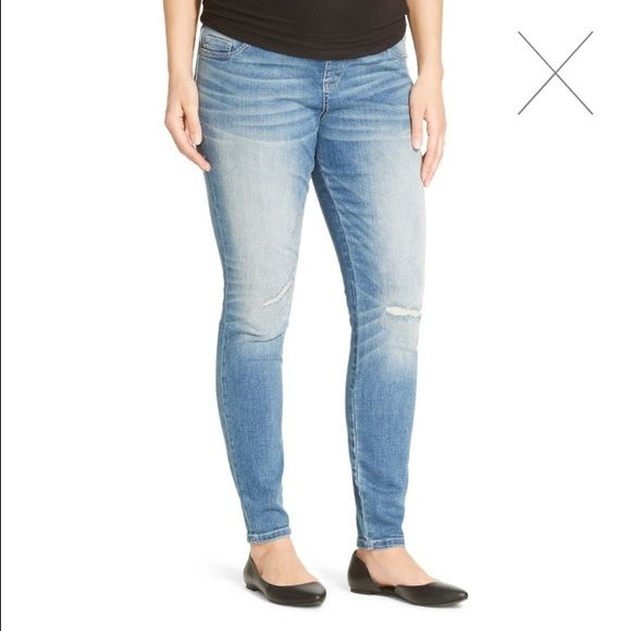 e97b89cccb591 Maternity Distressed Jeggings Get fashion and comfort with Maternity  Jeggings from Liz Lange. Versatile and stylish, these women's jeggings are  made of ...