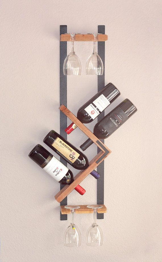 Unique Wall Wine Rack Vertical Wood Wine Rack Hanging Stemware Glass Holder Modern Wall Wine Rack Wine Rack Wall Wall Mounted Wine Rack