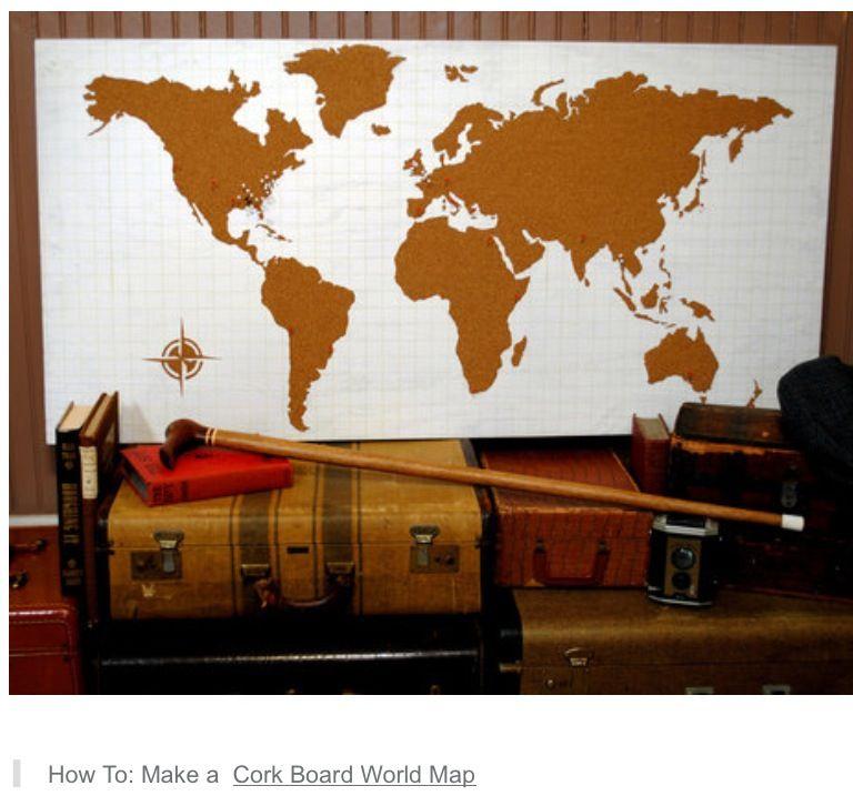 Cork board world map room ideas pinterest cork boards room cork board world map gumiabroncs Images