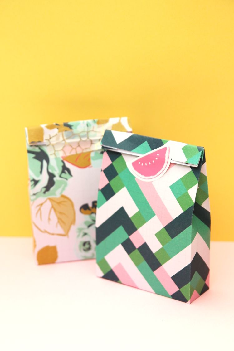 Mini Printable Gift Bags With Free Template Gift Boxes