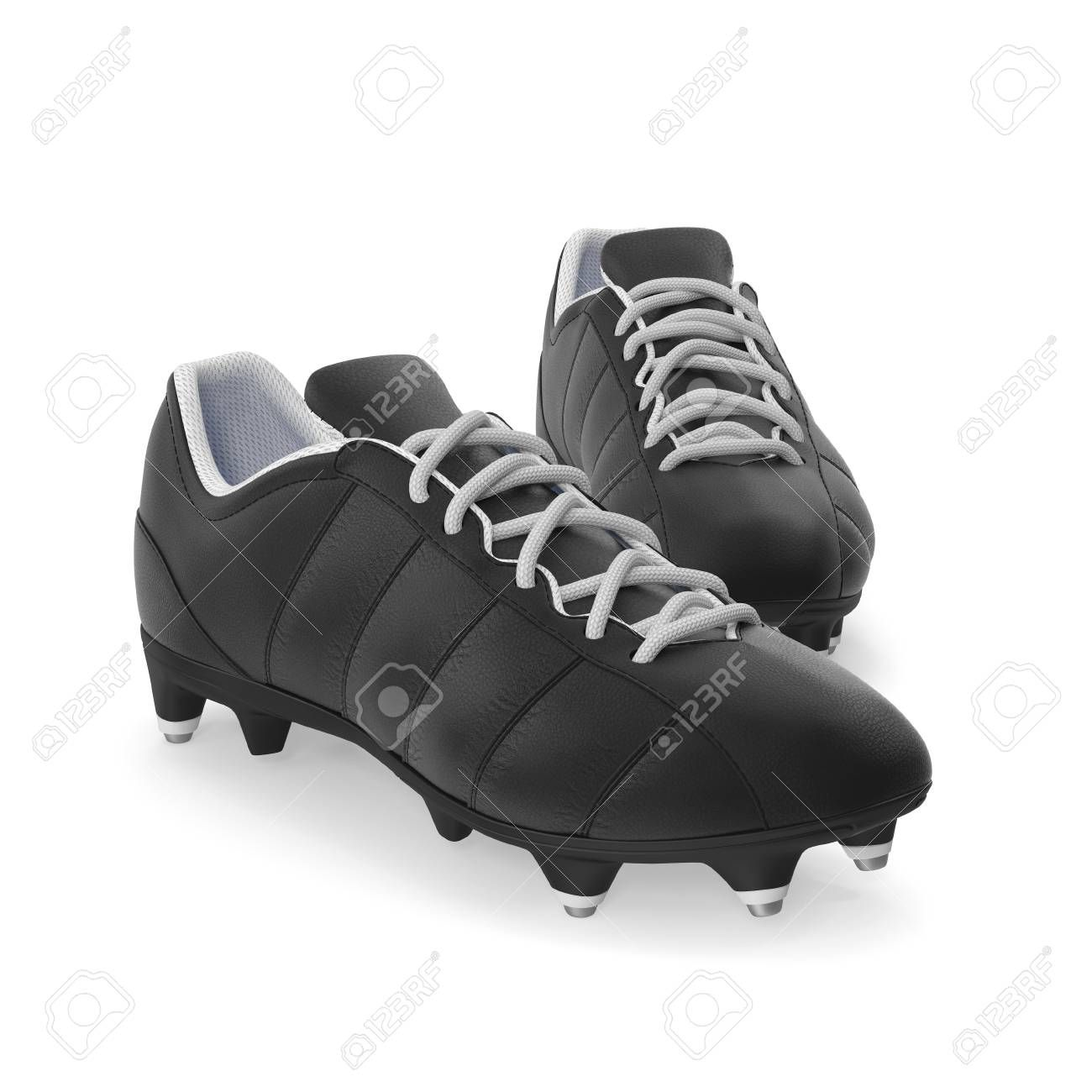 Outdoor Soccer Cleats Shoes On White Background 3d Illustration Stock Photo Affiliate Cleats Shoes Outdoor So Cleats Shoes Hiking Boots Sport Shoes