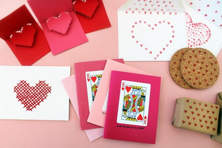 will you be our valentine? 4 quick + easy diy stationery ideas, Ideas