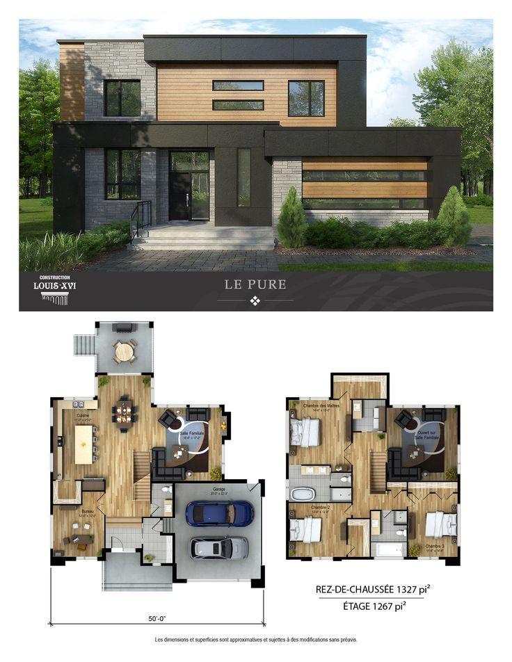 Maison 2 Etages A Vendre A Blainville Jetez Y Un Coup D Oeil Rjk Blainville Coup Doei House Designs Exterior Modern House Floor Plans Sims House Plans