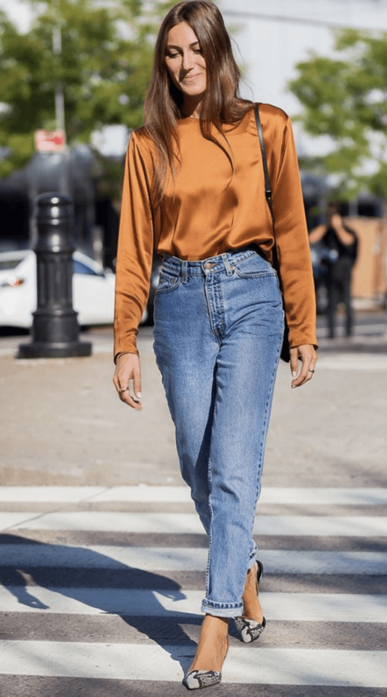 376c3aa1d96f0 Mom Jeans Outfit Ideas – How To Wear Mom Jeans, High-waist Jeans ...