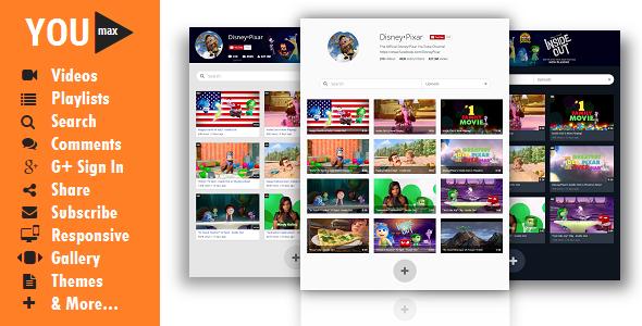 Youmax PRO v2.6 YouTube & Vimeo Portfolio for Awesome Businesses ...