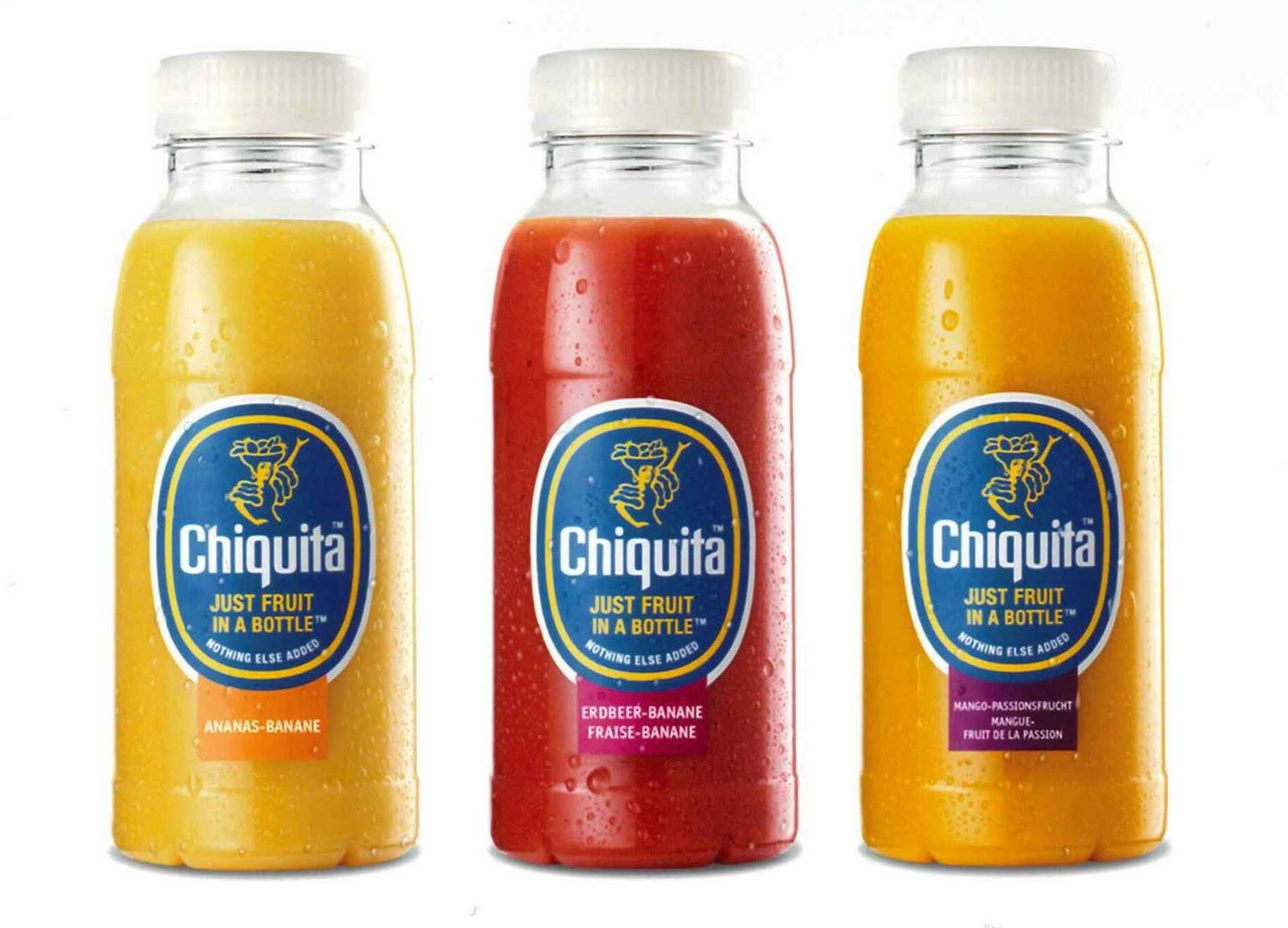 Chiquita Just Fruit In A Bottle Chiquita Smoothies Fruit