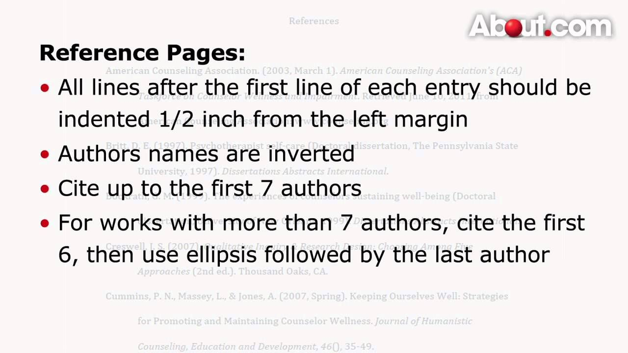 how to make reference pages in apa format writing pinterest