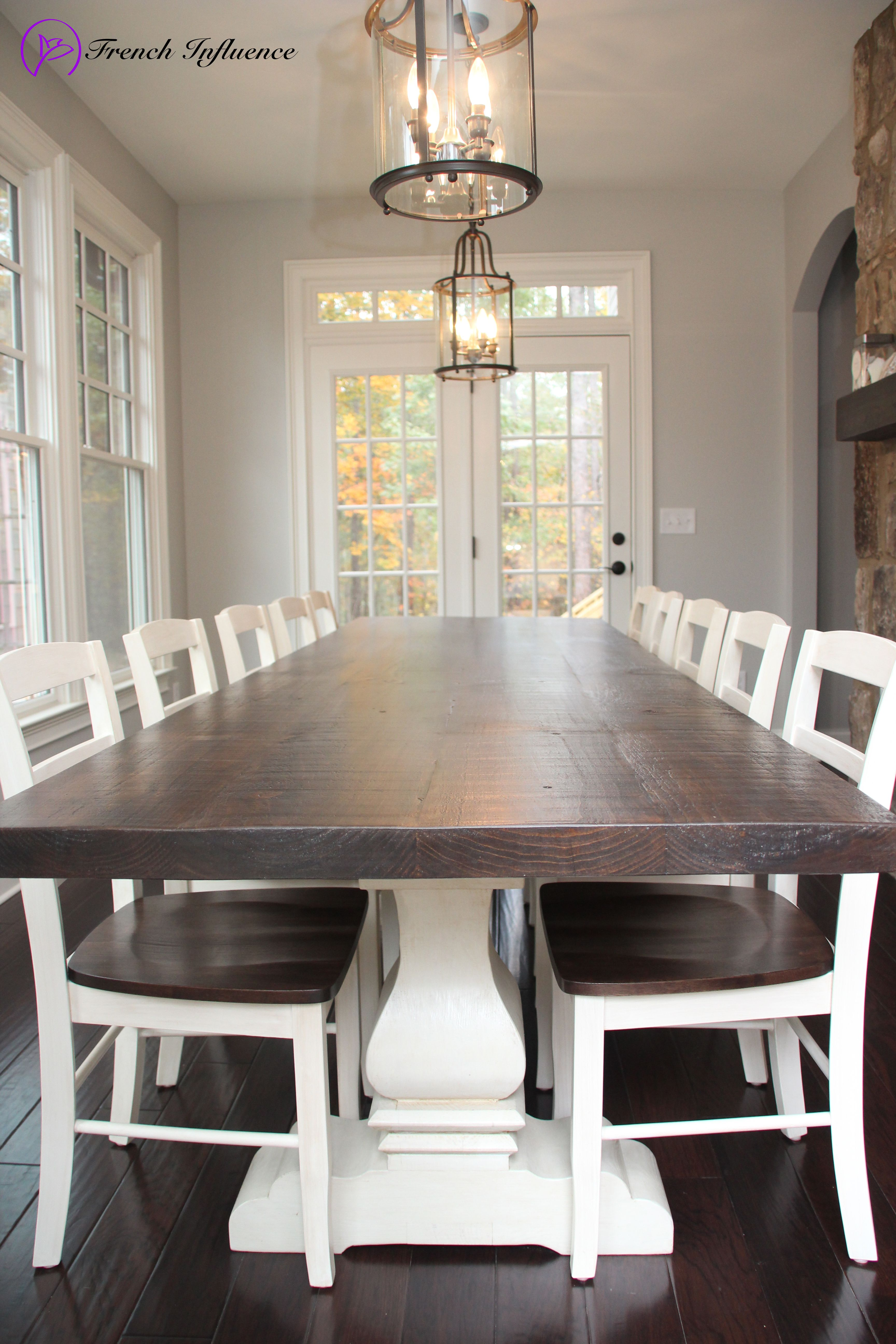 Josh Leg Style Pedestal Table By French Influence