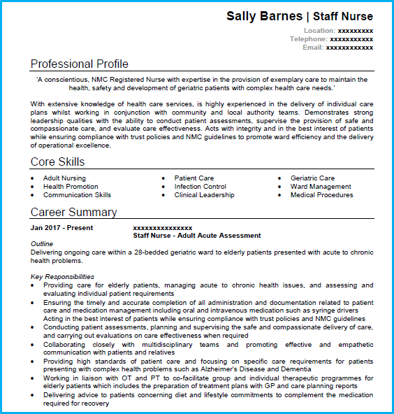 Nursing Cv Example In Microsoft Word For Any Nursing Professionals Looking To Create A Powerful Cv And Land Job Interviews Nursing Cv Cv Examples Cv Template