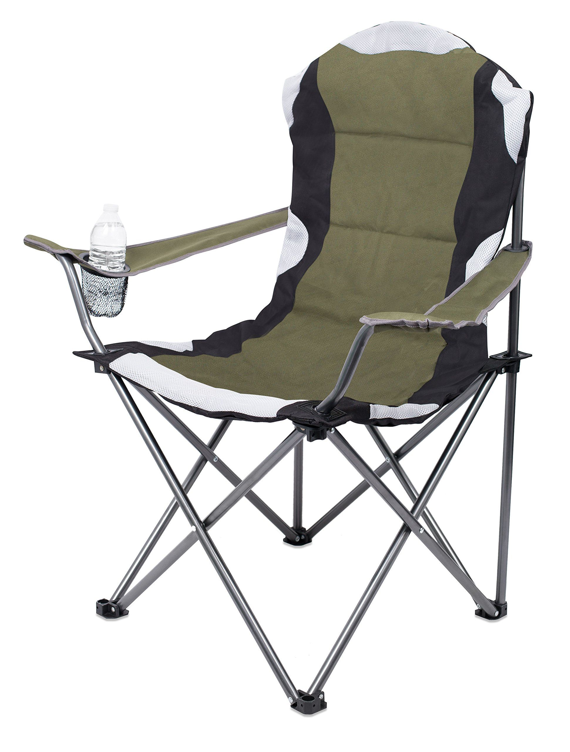 Internet S Best Padded Camping Folding Chair Outdoor Sports Cup Holder Comfortable Carry Bag B Outdoor Folding Chairs Outdoor Chairs Camping Chairs