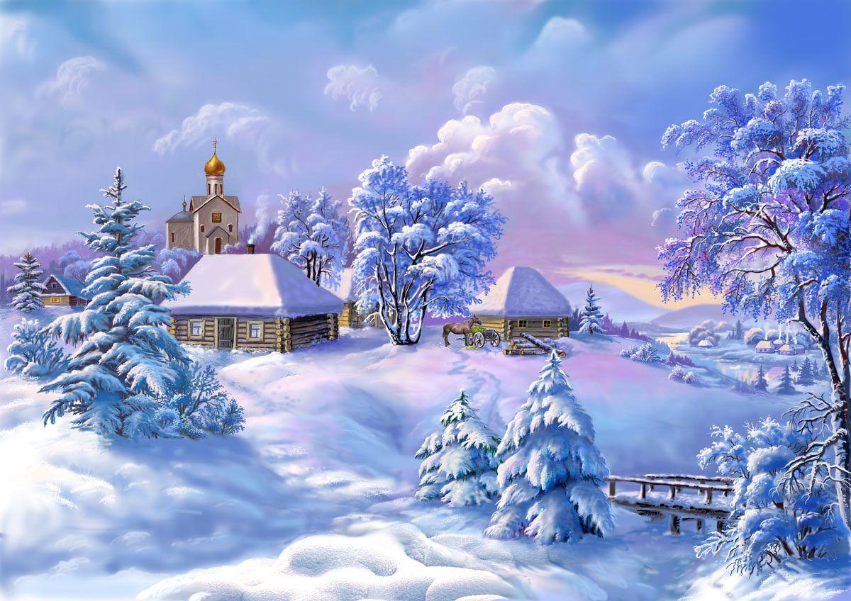 Зимние открытки на новый год, козами картинки день