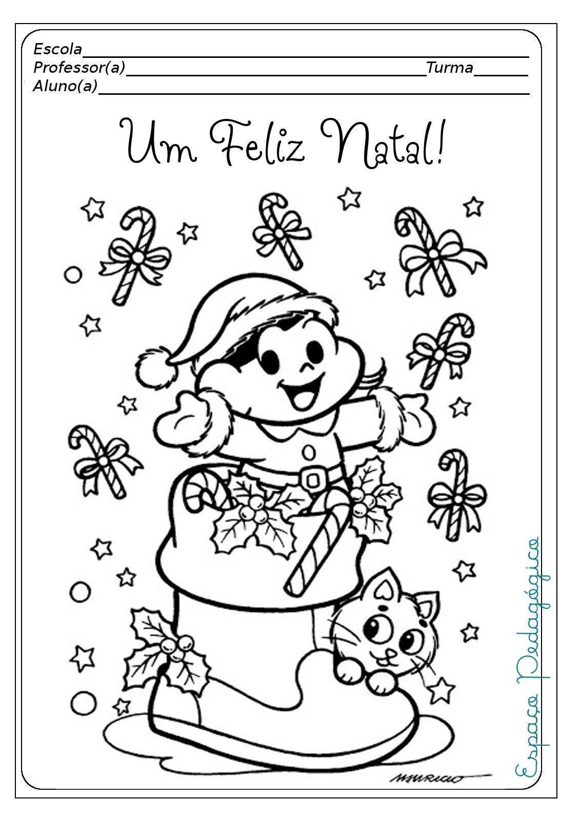 Preparei Com Muito Carinho Essas Capas De Provas E Projetos Trabalhinhos Par Desenhos Para Colorir Natal Desenho De Natal Atividades De Natal Para Crianças