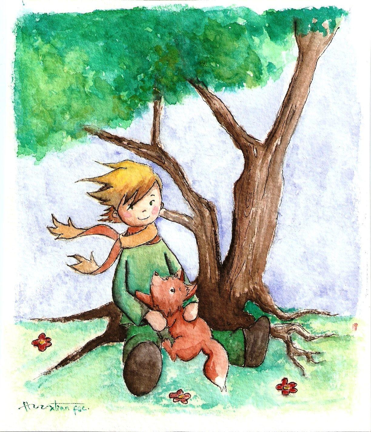 будет домик рисунки маленький принц и лис составленный