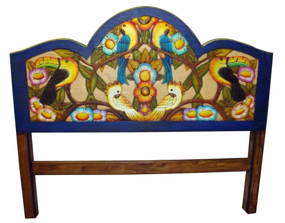 mexican painted furniturepainted mexican furniture  Tropical Hand Painted Mexican