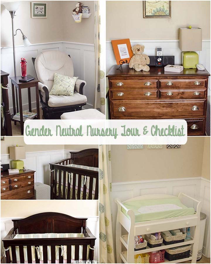 The Ultimate Nursery Decorating Checklist: Baby Checklists: Gender Neutral Nursery Tour & Checklist