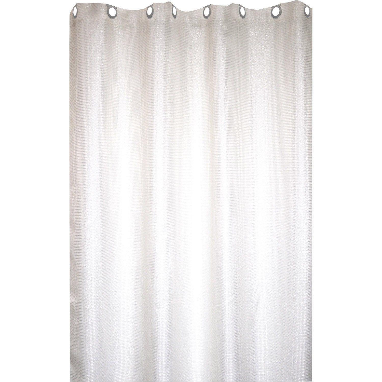 Rideau de douche en textile argent l.20 x H.20 cm, Maya SENSEA