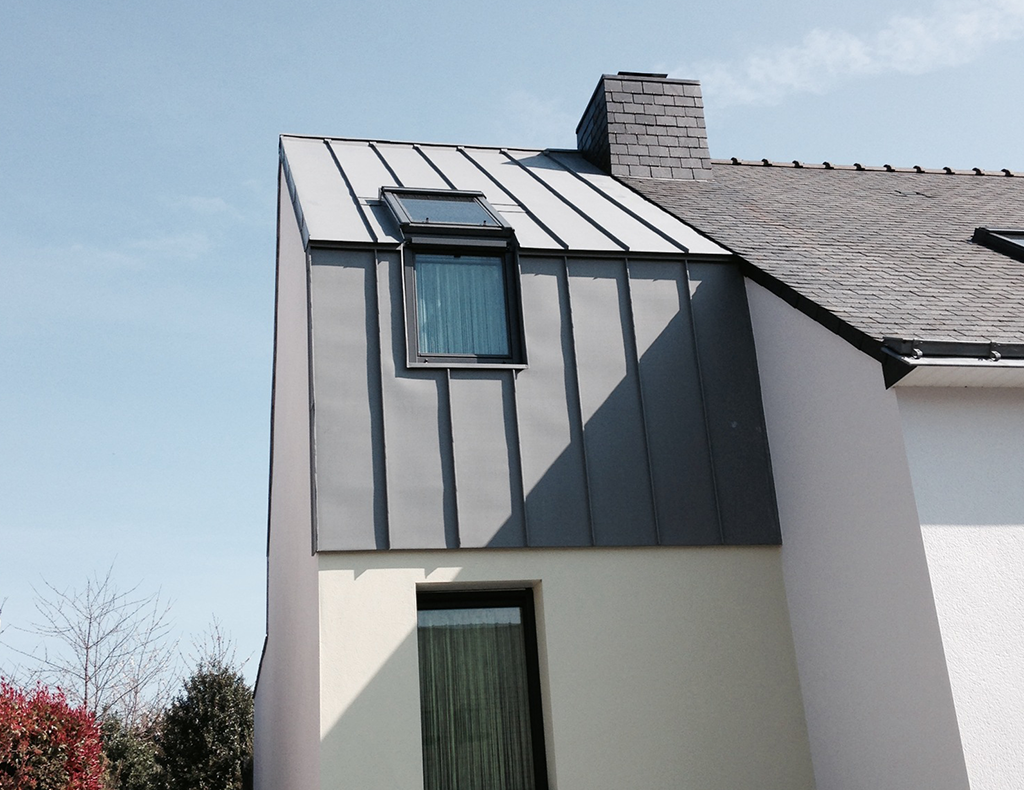 Bardage zinc fa ade bois fibro ciment ou m tallique - Bardage metallique facade ...